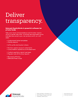 Relevant EquityWorks - Deliver Transparency handout