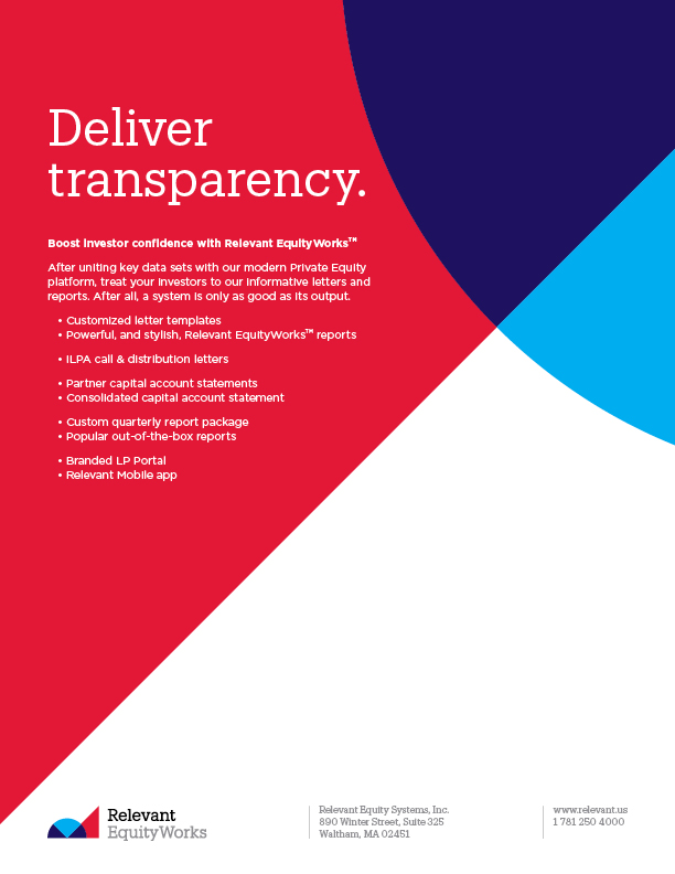 Deliver Transparency with Relevant EquityWorks