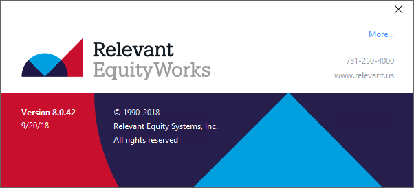 Special client training event! <br>Meet Relevant EquityWorks v8!